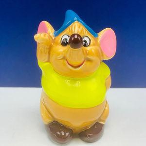 Cinderella Gus Mouse figurine vtg Japan disney mcm